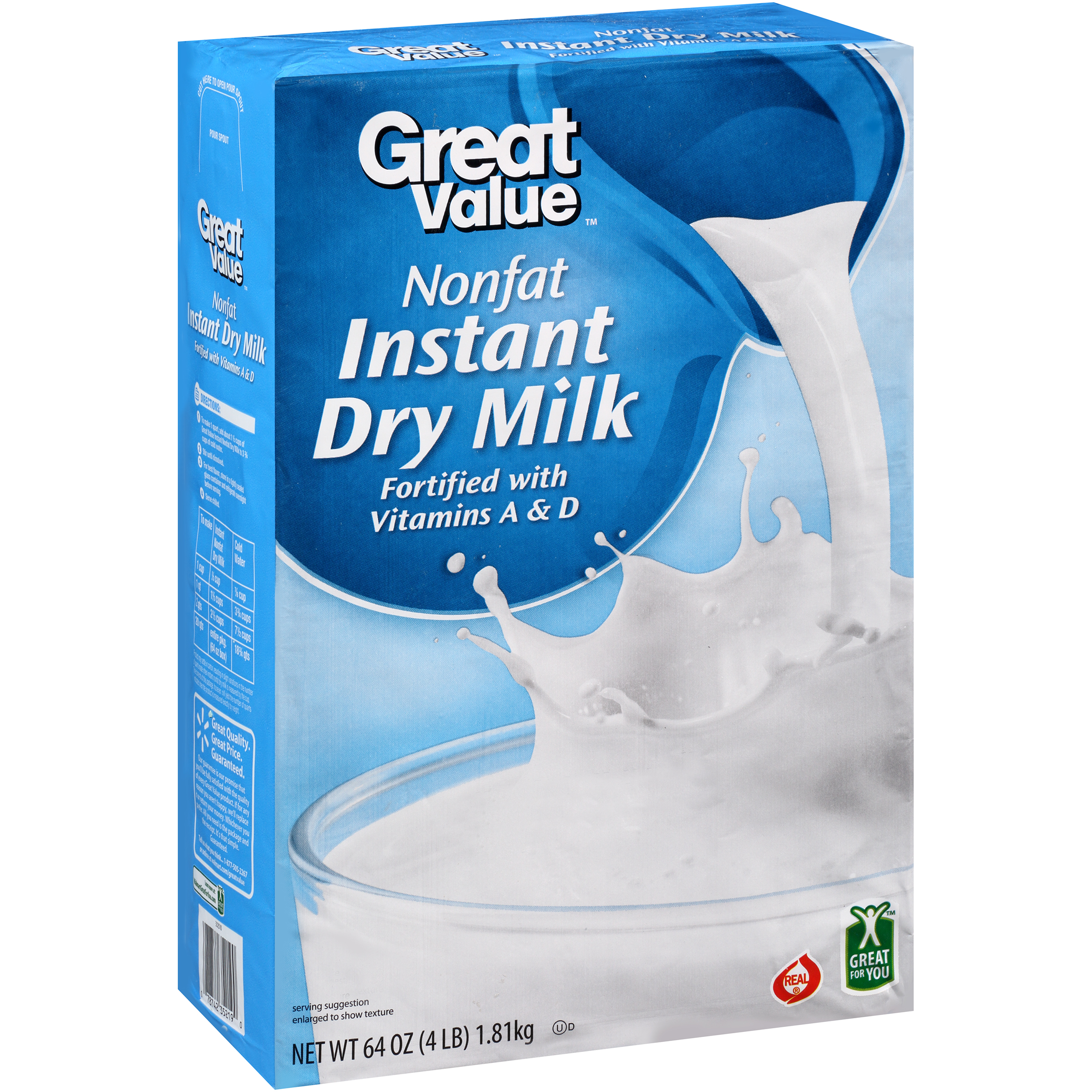 Great Value™ INSTANT DRY MILK 20 QT