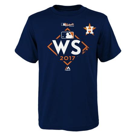 Houston Astros Majestic Youth 2017 World Series Bound T-Shirt - Navy - Houston Halloween 2017