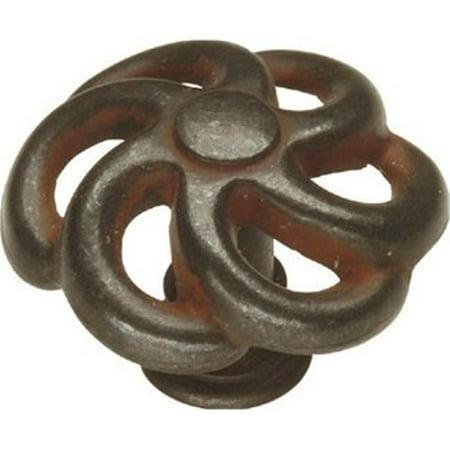 Hickory Hardware PA1311-RI 1.5 In. Charleston Blacksmith Rustic Iron Cabinet Knob Series 1.5 Knob