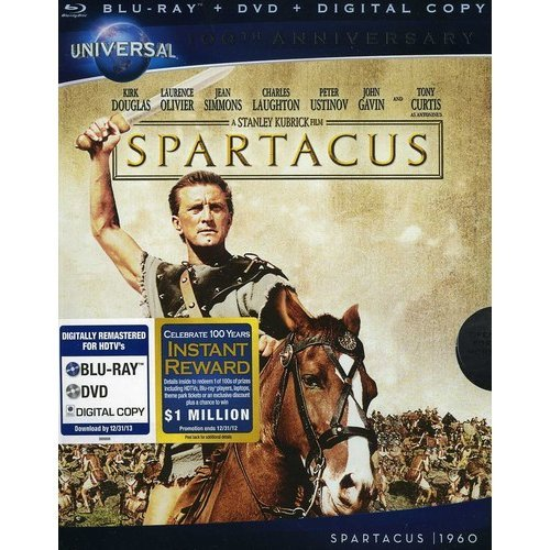 Spartacus (Blu-ray + DVD + Digital Copy) (With INSTAWATCH) (Widescreen)