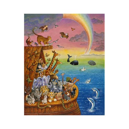 Noah and the Rainbow Print Wall Art By Bill Bell
