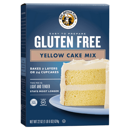 (2 Pack) King Arthur Flour Gluten Free Yellow Cake Mix, 22.0 OZ (La Kings Cake)
