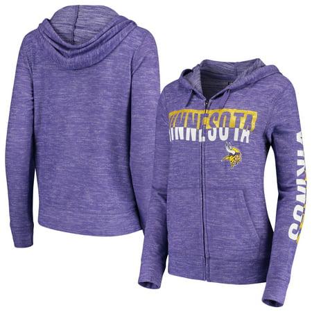 check out 3d02d 1f85d Minnesota Vikings New Era Women's Glitter Sweater Knit Tri-Blend Full-Zip  Hoodie - Purple