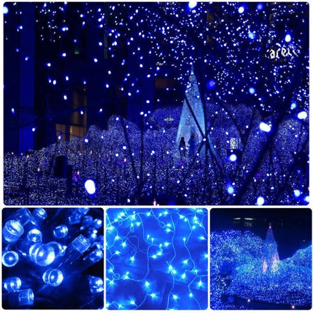 Blue 32m 300 LED Fairy String Lights Electric Party Decoration Garden Wedding - image 4 de 8