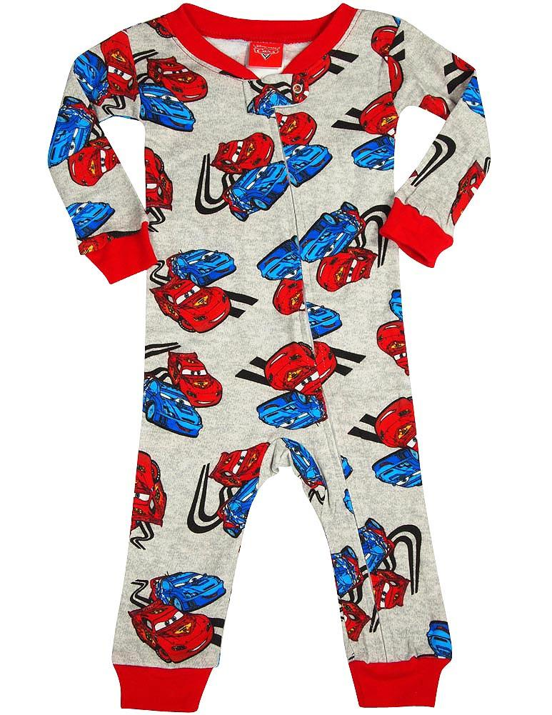Disney Cars - Baby Boys Long Sleeve Cars Coverall GRAY / 12 Months