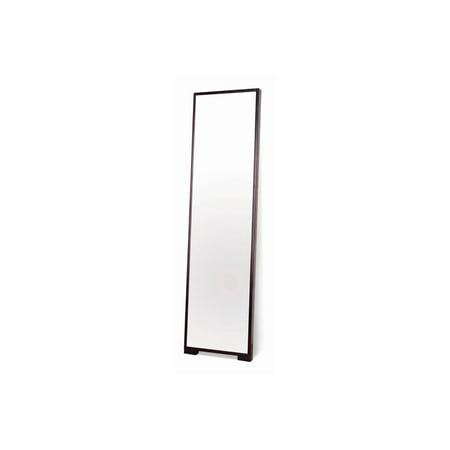 Modern full length mirror w thin wood frame for Full length mirror with mirror frame
