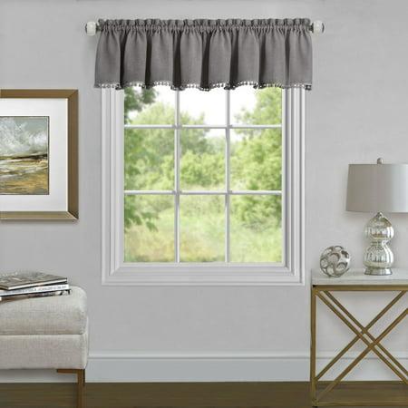 Olivia Bedroom (Traditional Elegance Olivia Window Curtain Valance 52x14 - Grey )