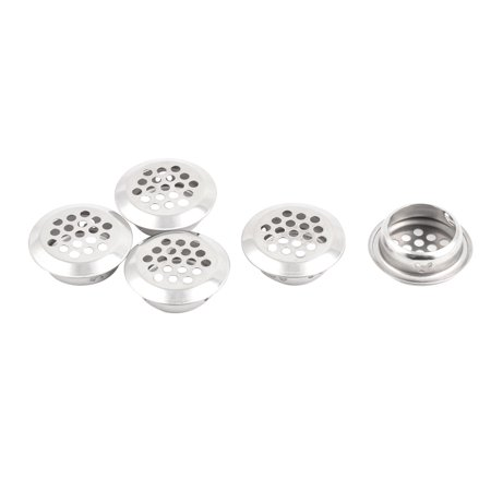 Unique Bargains Kitchen Bathroom Stainless Steel Round Mesh Hole Sink Strainer Silver Tone 5pcs ()