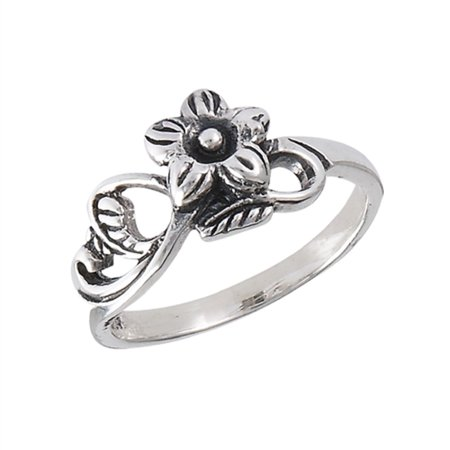 Girls Women New .925 Sterling Silver Flower with Vines Ring Sizes 2-8](Girls Vine)