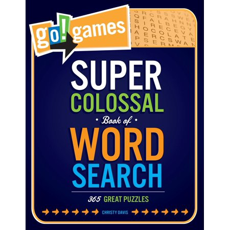 Go!Games Super Colossal Book of Word Search : 365 Great - Printable Halloween Word Searches For Adults