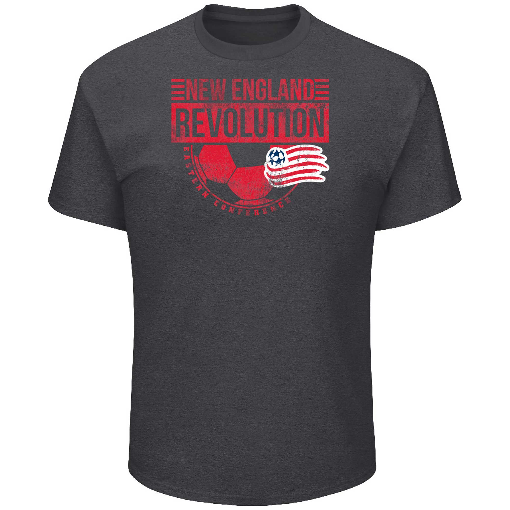 New England Revolution Majestic Big & Tall Every Minute T-Shirt - Charcoal