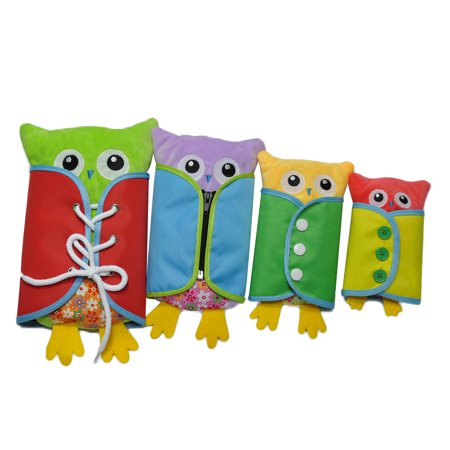 Novel Owl Plush Dress-up Toy Développement Intellectuel Early Educational Kindergarten Teaching Aid Set 4 PCS Per Set - image 9 de 9