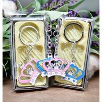 Crown Keychain Princess Wedding Birthday Shower Party Favors Recuerdos 12pcs