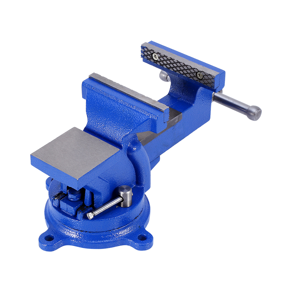 HURRISE Bench Vise Table Top Clamp Press Locking Swivel Base Cast Iron Tool 4-Inch 100mm