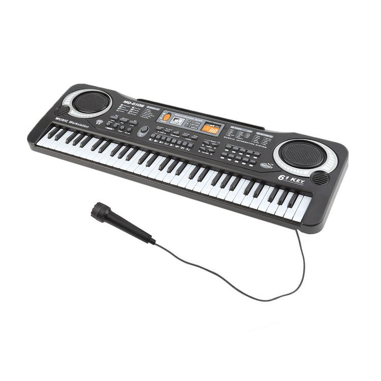 61 Keys music piano Music electric piano keyboard digital keyboard with Microphone... by