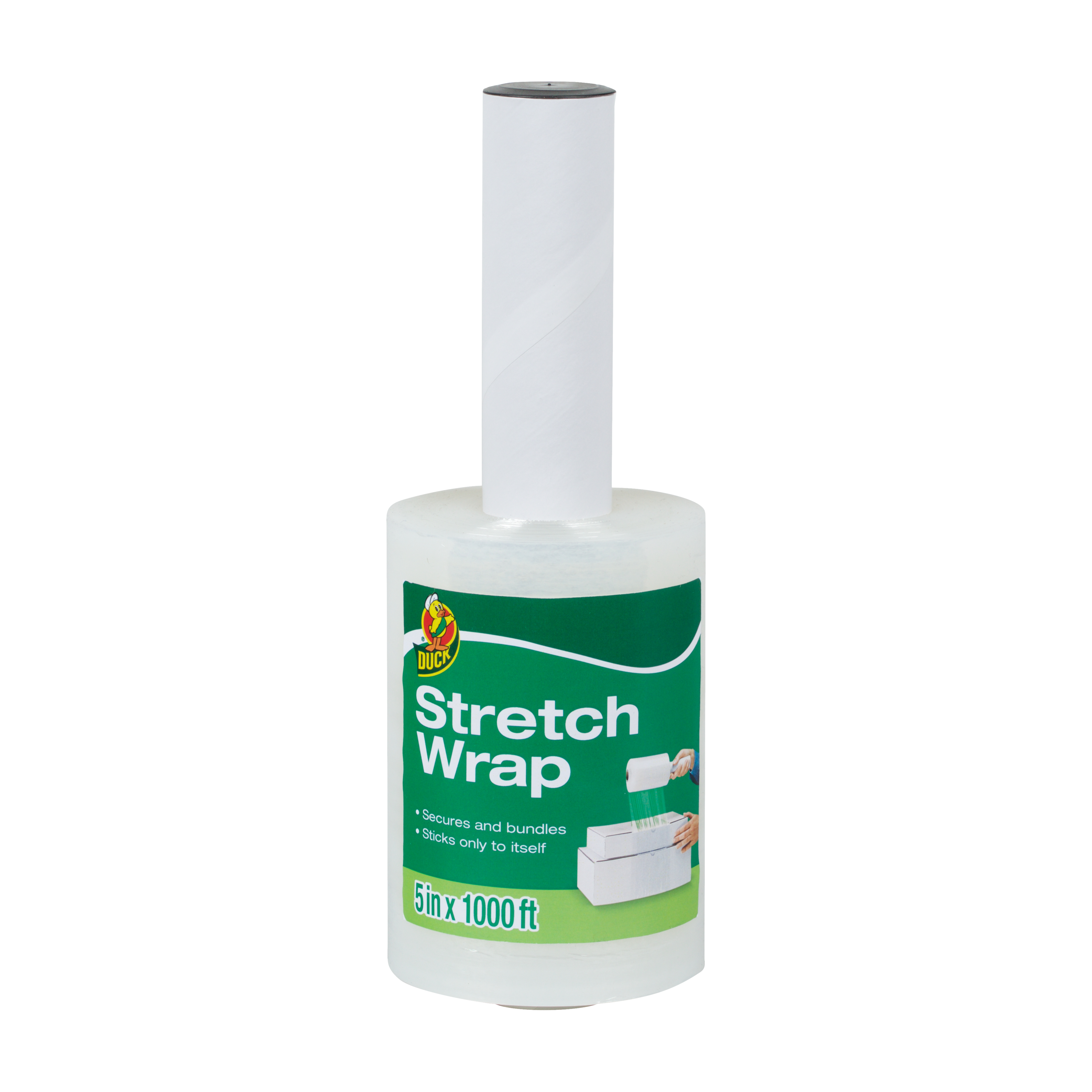 Duck Brand Stretch Wrap Film - Clear, 5 in. x 1,000 ft.