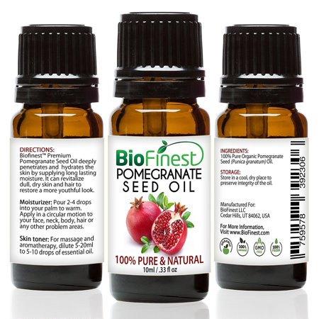 Biofinest Pomegranate Seed Organic Oil   100  Pure Cold Pressed   Premium Quality   Best Moisturizer For Hair  Face   Skin   Rich In Antioxidant Vitamin   Free E Book  10Ml