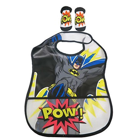 DC Batman Boys Infant Bib and Bootie Set 0 - 12 Months [5011]