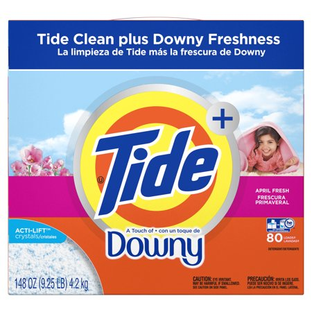 Tide Plus A Touch of Downy Powder Laundry Detergent, April Fresh, 80 loads, 148