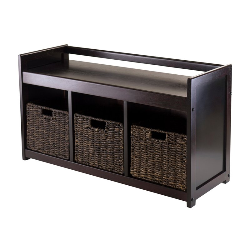 Winsome Addison 4 Pc Storage Bench With 3 Foldable