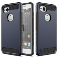 Google Pixel 2 XL Case, Hybrid Slim Fit Impact Dual Layer Shockproof Case for Google Pixel 2 XL (2017) - Red