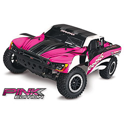 Traxxas 580341T2 1:10 Slash 2wd RTR with Tqi 2.4GHz, Batt/Charge; Pink