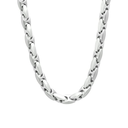 Stainless Steel Mariner Link Chain, 24