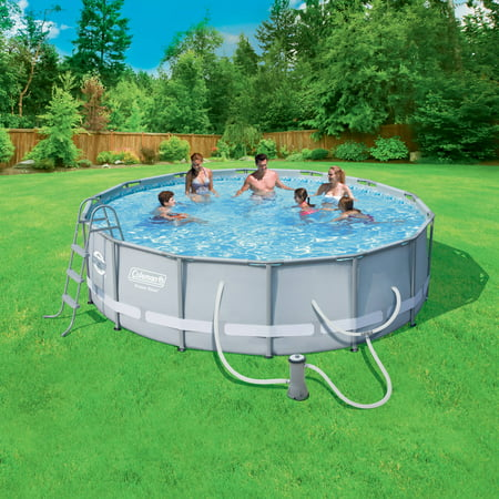 Coleman Power Steel 14 X 42 Quot Frame Swimming Pool Set