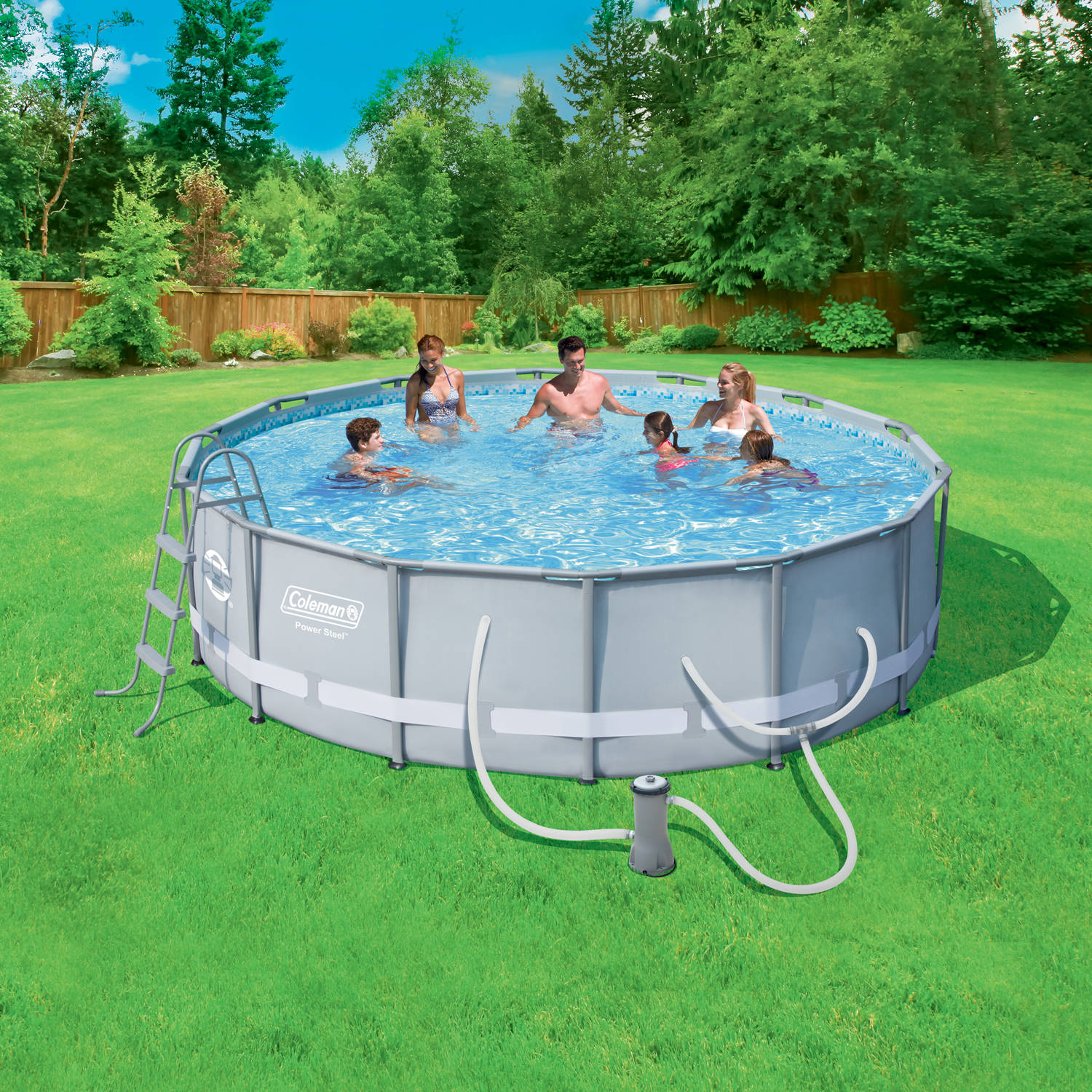"Coleman Power Steel 14' x 42"" Frame Swimming Pool Set"
