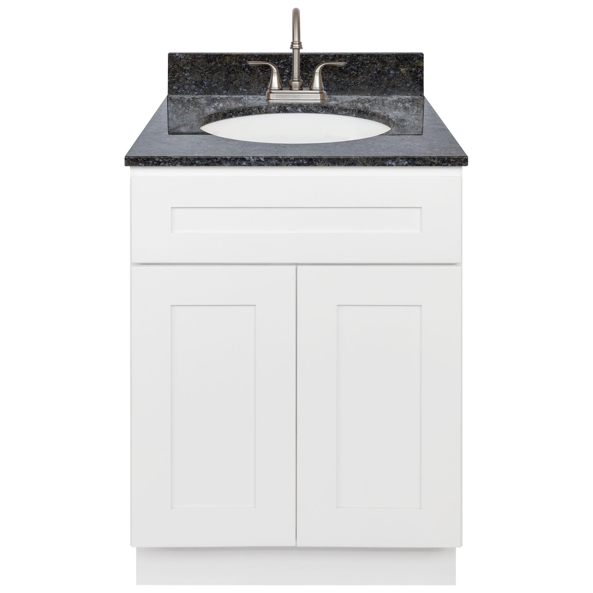 White Bathroom Vanity 24 Blue Butterfly Granite Top Faucet Lb6b Walmart Com Walmart Com