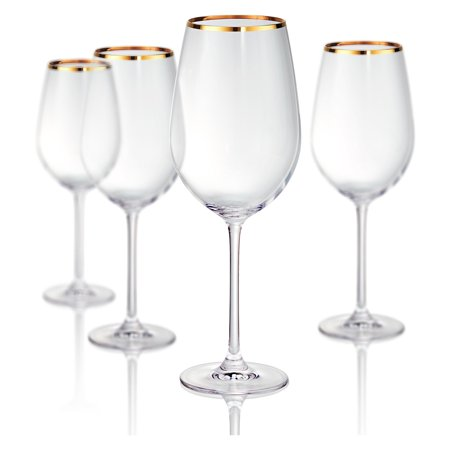 - Artland Gold Band Bordeaux Wine Glasses - Set of 4