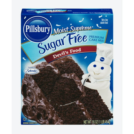 (2 pack) Pillsbury Moist Supreme Sugar Free Premium Devil's Food Cake Mix, 16.0 oz ()