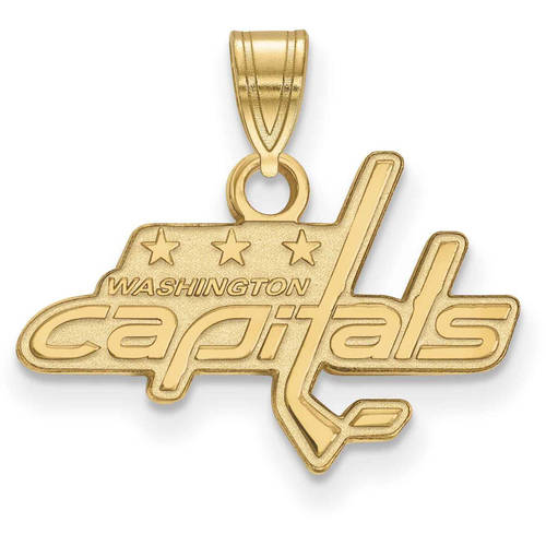 LogoArt NHL Washington Capitals 10kt Yellow Gold Extra Small Pendant