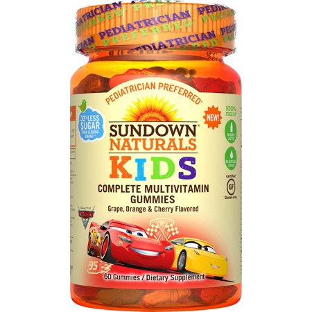 Sundown Naturals® Kids Disney Cars 3® Complete Multivitamin, 60 Gummies