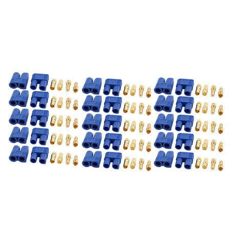 15 Pairs EC3 2mm Female Male Banana Connectors f RC ESC LIPO Battery