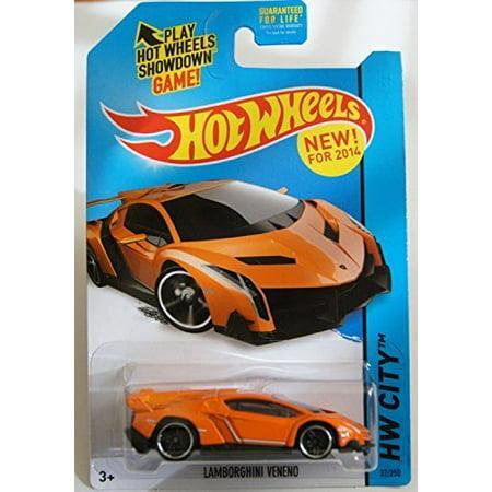 2014 Hot Wheels Hw City 37/250 - Lamborghini Veneno - Orange [Ships in a Box!] - Walmart.com