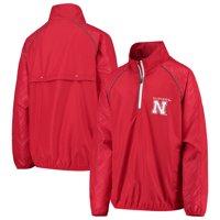 Nebraska Cornhuskers G-III Sports by Carl Banks Youth Oxygen Raglan Half-Zip Pullover Jacket - Scarlet