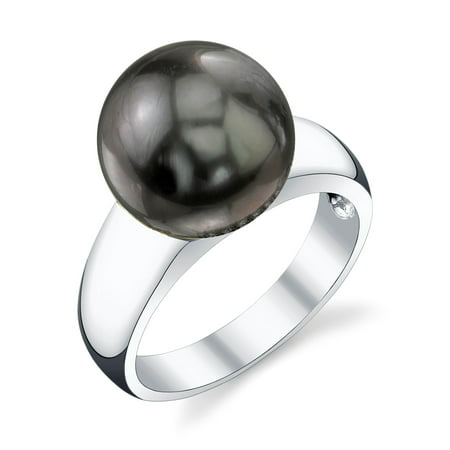 10mm Tahitian South Sea Cultured Pearl Abigail Ring in 14K Gold ()
