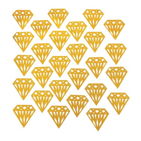 Fun Express - Gold Diamond Foil Shaped Confetti for Wedding - Party Decor - General Decor - Confetti - Wedding - 1 Piece