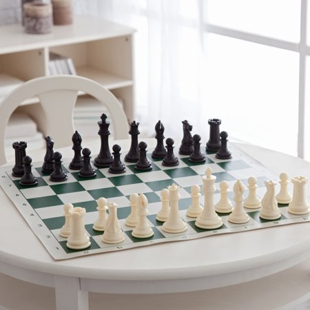 - Deluxe Tournament Chess Set with Canvas Bag