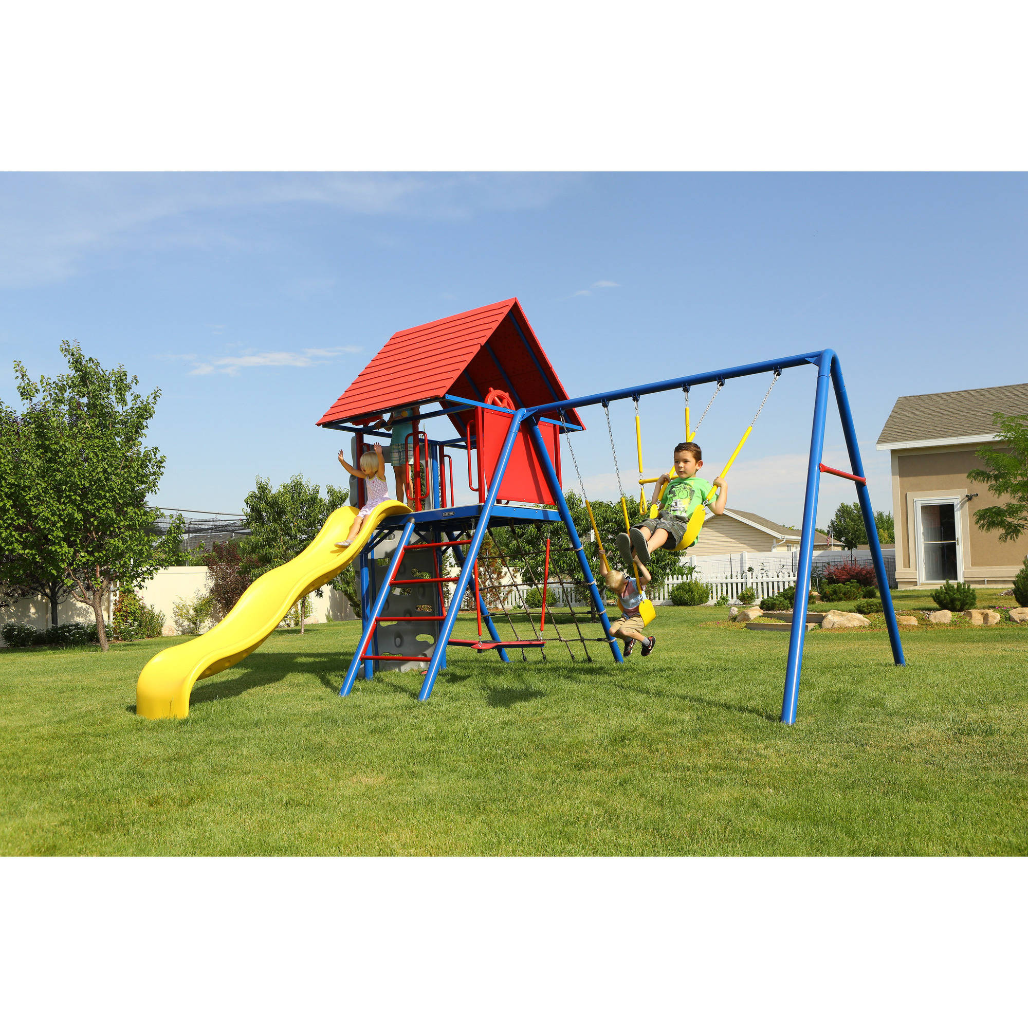Lifetime A-Frame Metal Swing Set