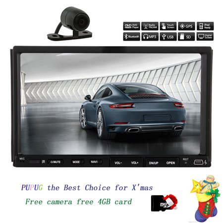 """Autoradio Car PC Radio CD In Dash Video Head Unit Multimedia Double Din Auto DVD Player Electronics Car Stereo MP3 MP4 Touch Screen 7""""Inch win 8 iPod BT Rearview Camera"""