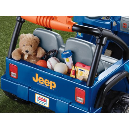 Best Power Wheels Hot Wheels Jeep Wrangler 12-Volt Battery-Powered Ride-On, Blue deal