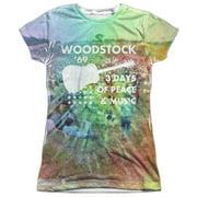 Woodstock - On The Hill - Juniors Cap Sleeve Shirt - XX-Large