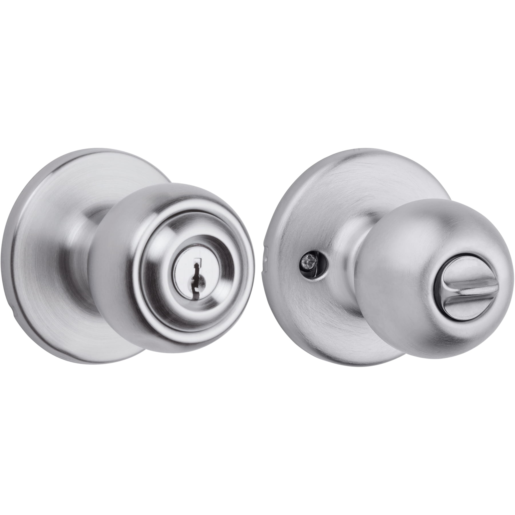 Kwikset Polo Satin Nickel Keyed Entry Door Knob