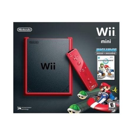 Refurbished Wii Mini Red/Black With Mario Kart