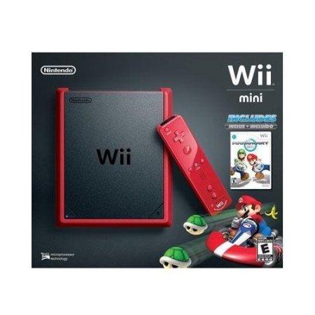 Refurbished Wii Mini Red/Black With Mario Kart