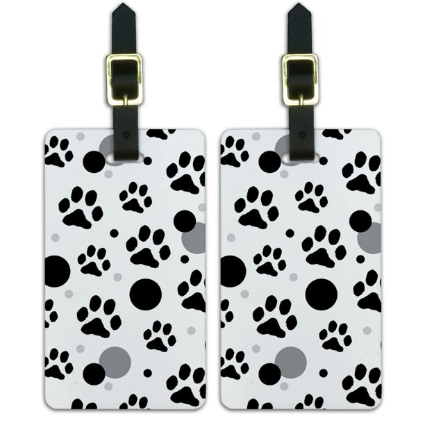 Graphics And More Graphics And More Paw Print Pet Dog Cat Luggage Suitcase Carry On Id Tags Set Of 2 Walmart Com Walmart Com
