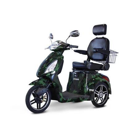 E-Wheels EW-36 3-Wheel 500W High Power Electric Mobility Scooter, Green