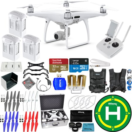 DJI Phantom 4 Pro Quadcopter! 3 Battery EXTREME Ready To Fly PRO Bundle